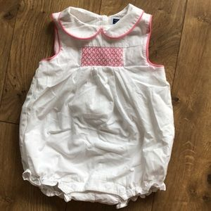 Janie and Jack Smocked romper 3-6 months